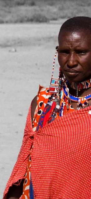 Une jolie femme Massaï - Safari en Afrique