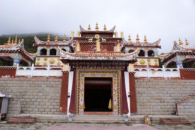 Le temple par Isabelle Charette Kangding Chine