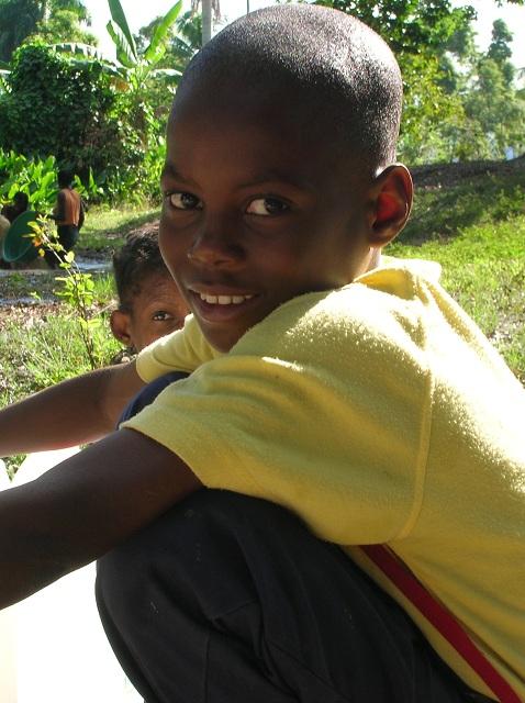 Un enfant par Isabelle Charette Haïti