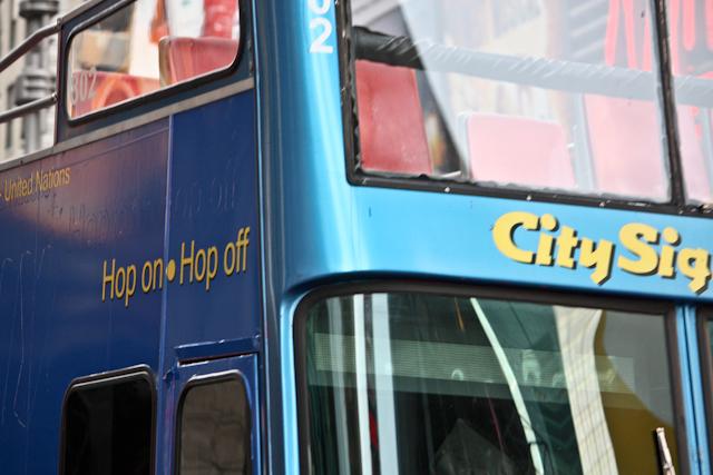 Un des nombreux bus touristiques à New York