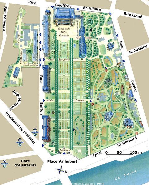 Plan du Muséum national d'Histoire naturelle de Paris - Wikipédia