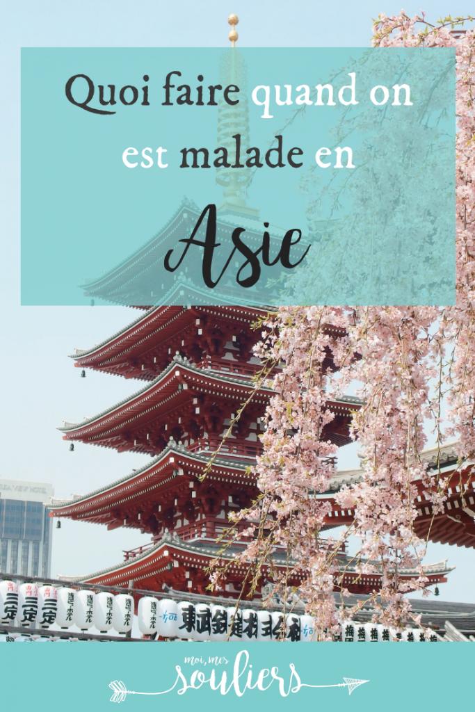 Tomber malade en Asie, quoi faire