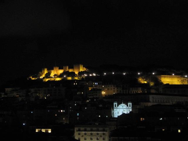 Vue de Lisbonne à partir de l'ascenseur Santa Justa