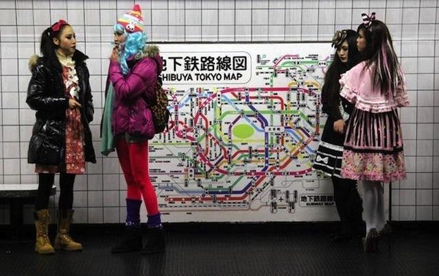Le Japon dans le métro de Milan