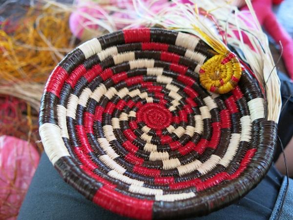 tissage Embera village panier