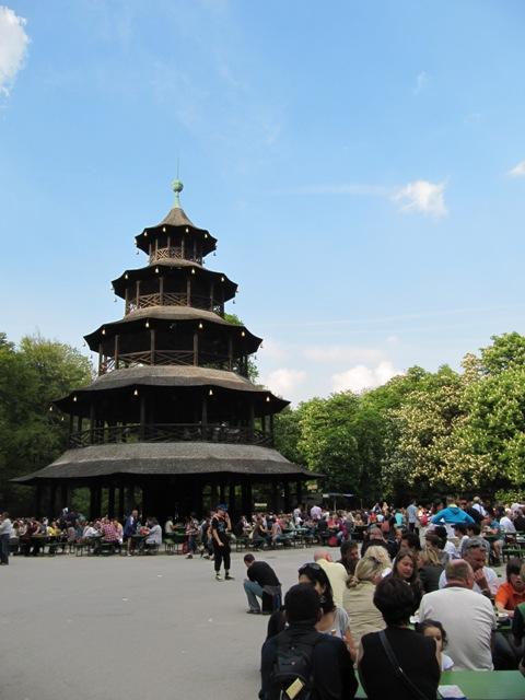 biergarten tour chinoise Englischer Garten Munich Allemagne