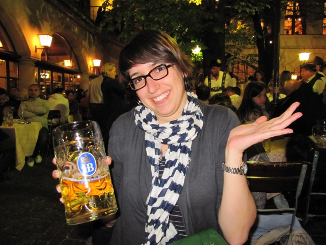 litre de bière Munich Bavière Allemagne