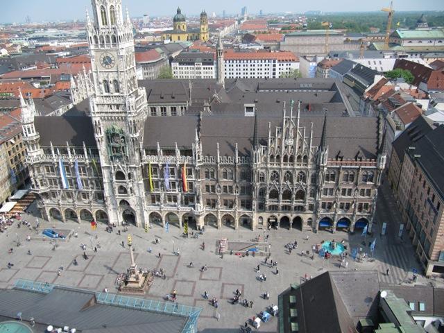Vue aérienne de Marienplatz