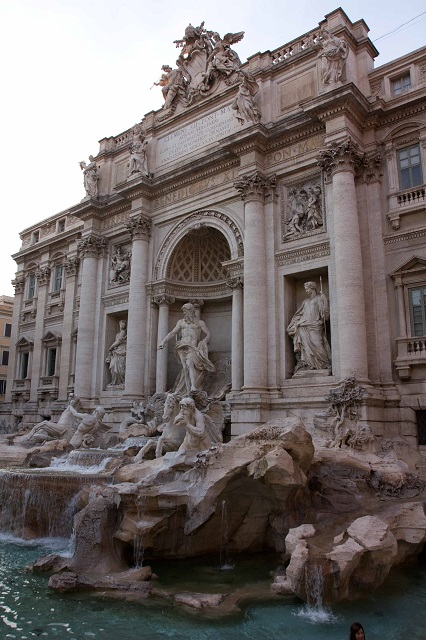 Façade de la fontaine de Trévi Rome Italie