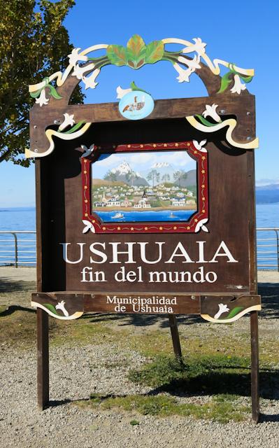 panneau la fin du monde Ushuaia