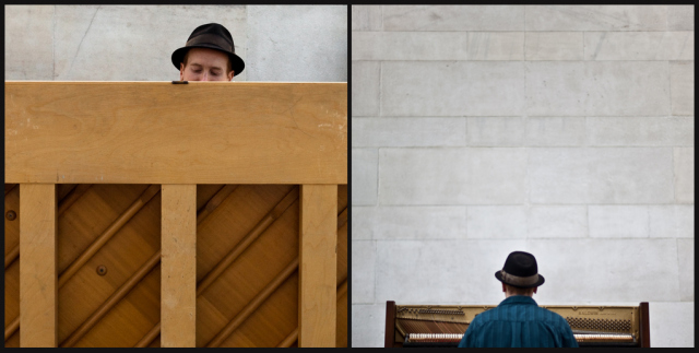 The Crazy Piano Guy de New York (Photo : Lucie Bataille)