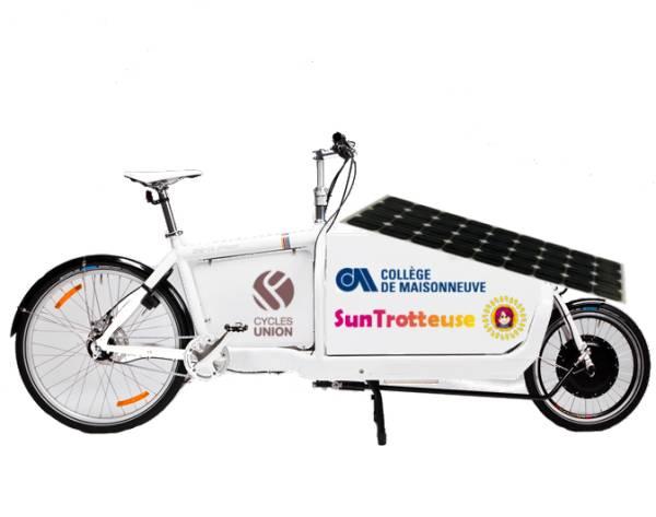 Modélisation d'un cargobike solaire Anick-Marie SunTrotteuse SunTrip