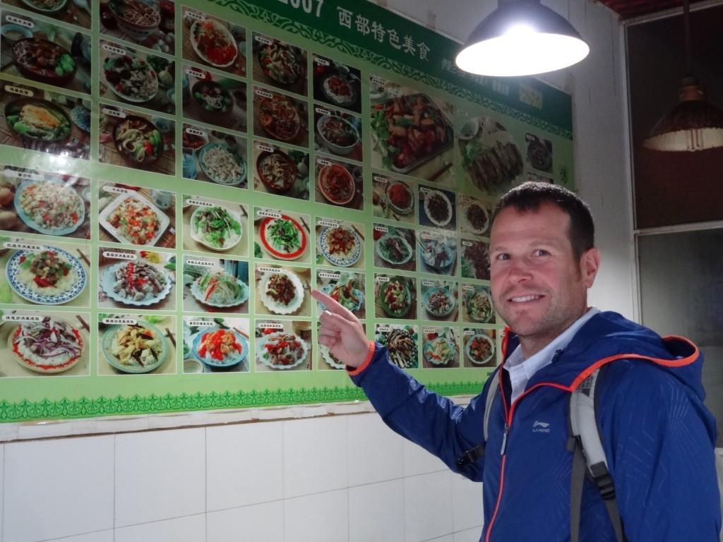 Mon chum et un menu parfait en Chine: on pointe et bingo!