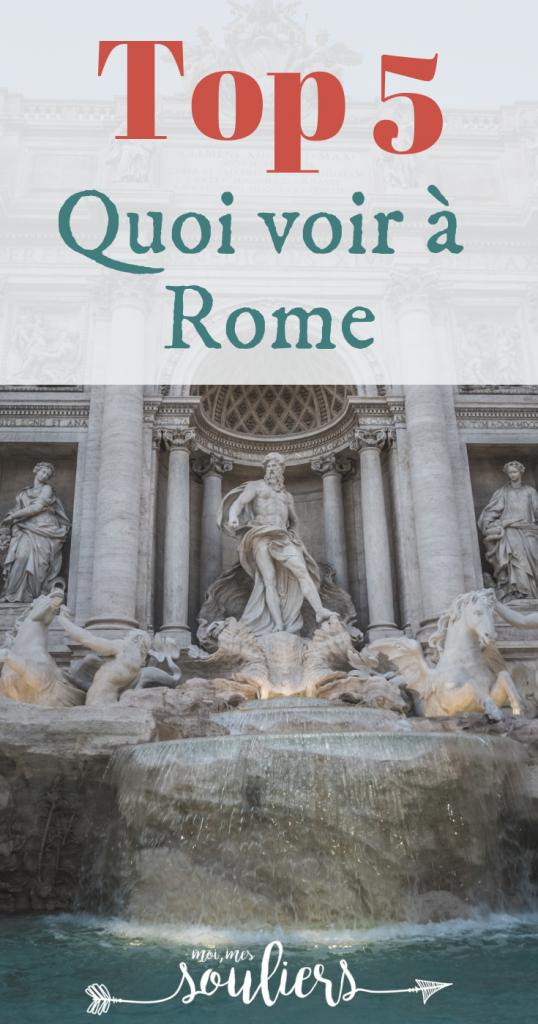 Top 5 à voir et faire à Rome