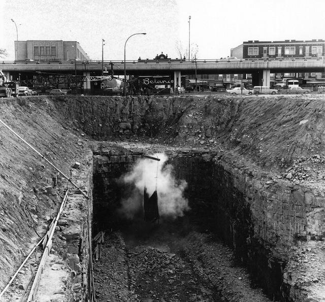 Construction de la station Cremazie (source : Ministère des Transports du Québec)