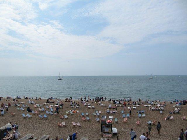 Plage de galets de Brighton