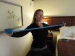 Exercicedos avec bande élastique