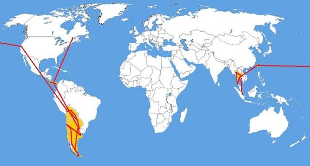 Carte du monde par Carte-france.info