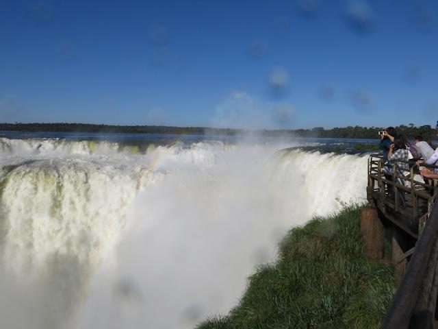 Gorge du diable aux chutes d'iguazu en Argentine