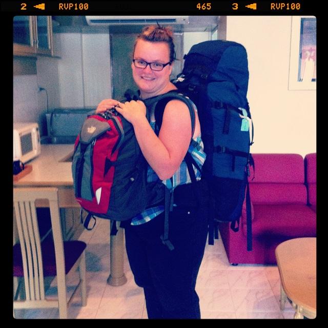 Jen et son sac à dos en tour du monde