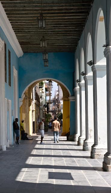 Les arcades du Paseo de La Havane