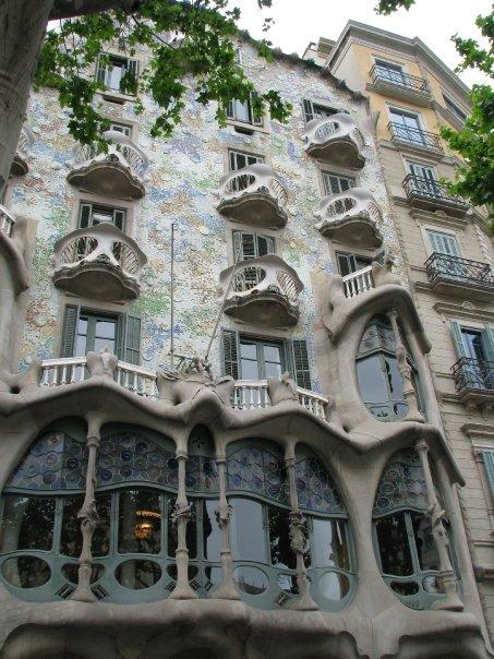 Oeuvre de Gaudi à Barcelone en Espagne