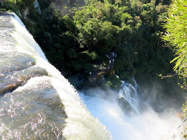 Plongée dans les chutes d'Iguazu en Argentine