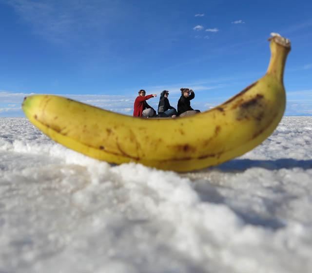 tour de banane Salar d'Uyuni désert de sel photos originales Bolivie