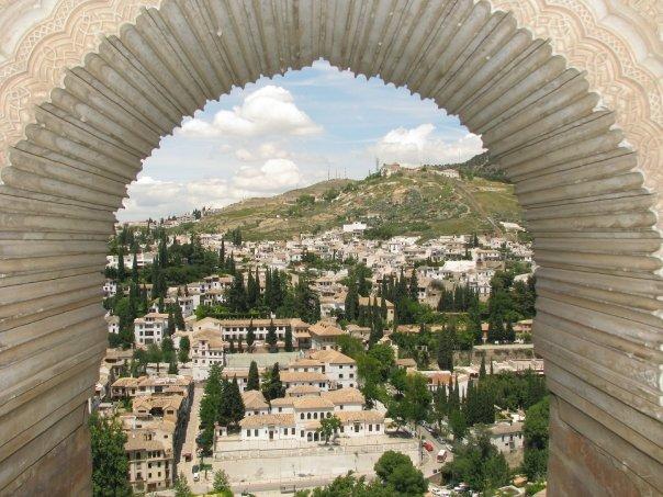 Vue de l'Alhambra à Granada en Espagne
