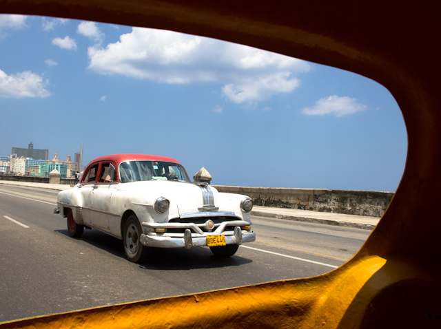 Vue du coco-taxi, La Havane, Cuba