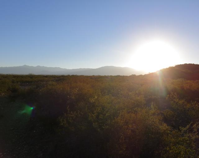Coucher de soleil sur Mendoza, Argentine