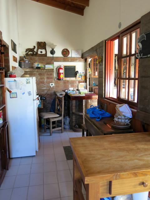 La cuisine de La Casa de Tounens, Puerto Madryn, Argentine