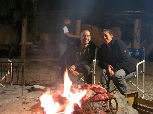 On attend le repas en bonne compagnie - Mendoza, Argentine