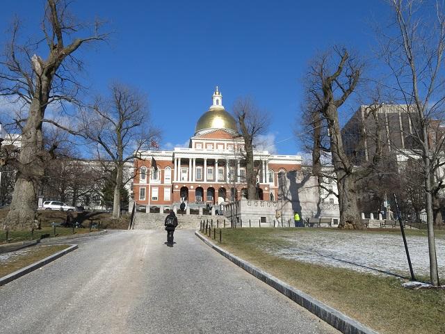 State House de jour - Boston, États-Unis