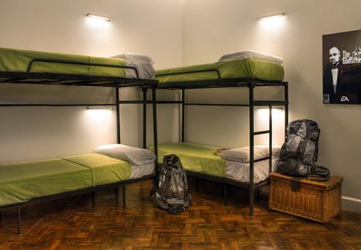 Un des dortoirs du Milhouse Avenue, Buenos Aires, Argentine