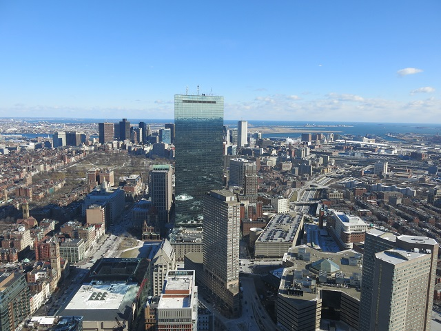 Vue du Skywalk - Boston, États-Unis