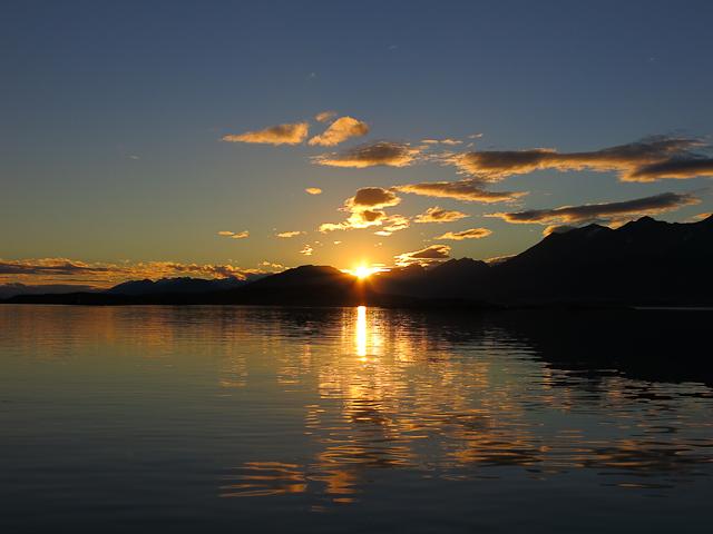 Coucher de soleil - Baie d'Ushuaia, Argentine
