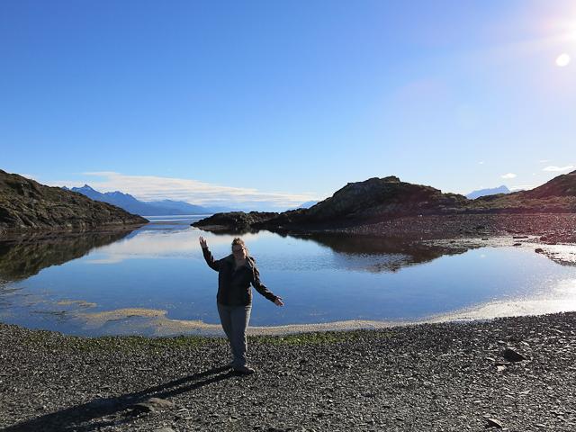 Jen sur l'Isla H - Ushuaia, Argentine