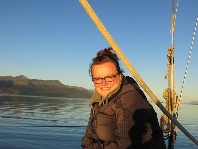 Jen sur le voilier - Ushuaia, Argentine