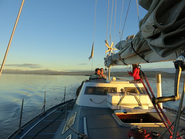 Le voilier Tres Marias - Canal Beagle - Ushuaia, Argentine