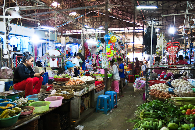 Marché - Siem Reap, Cambodge
