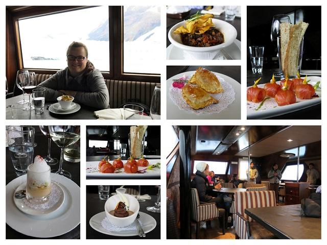 Nourriture à bord de Cruceros MarPatag - El Calafate, Argentine