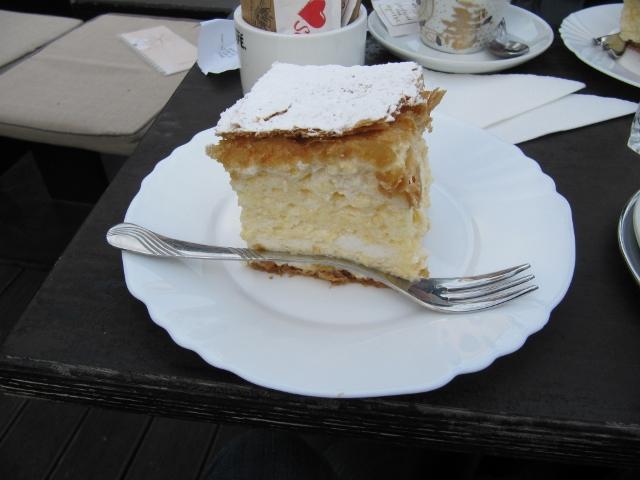 Le fameux kremšnite, Samobor, Croatie