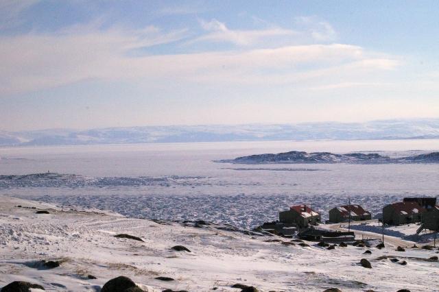 La baie de Frobisher et les embâcles en février