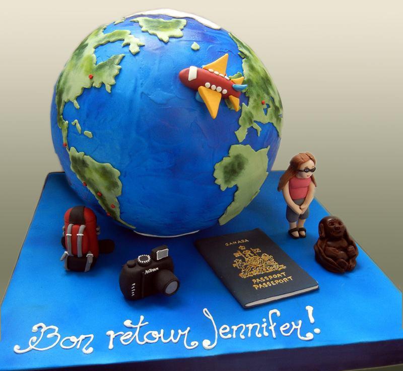 Mon gâteau de retour de tour du monde par Les Petites Mains Sucrées