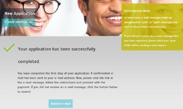 Application réussie - e-visa - Turquie
