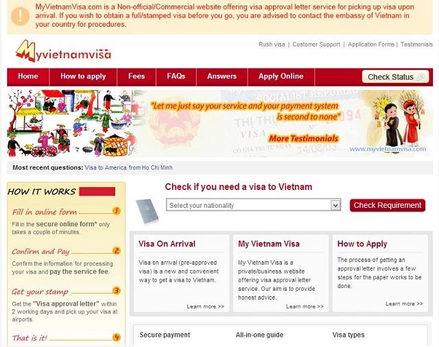MyVietnam Visa - Visa pour le Vietnam