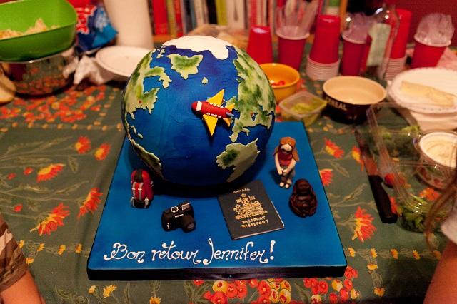 Retour de voyage - Mon gâteau