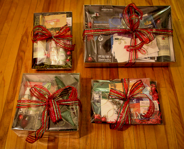 Paniers-cadeaux des Fêtes - angle