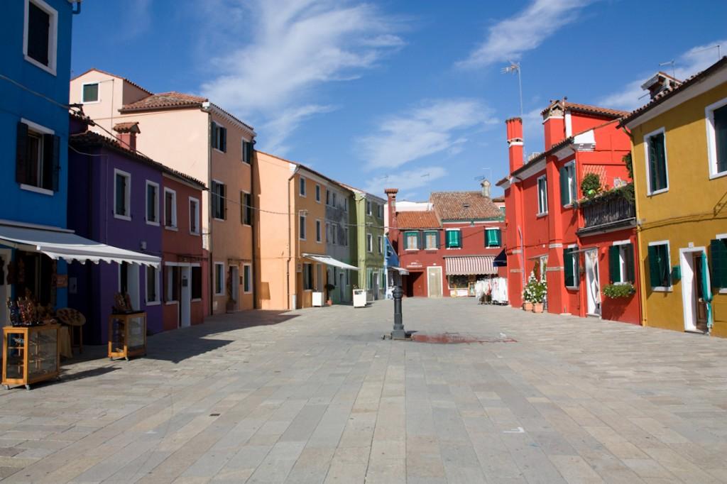 Arrivée à Burano, Italie